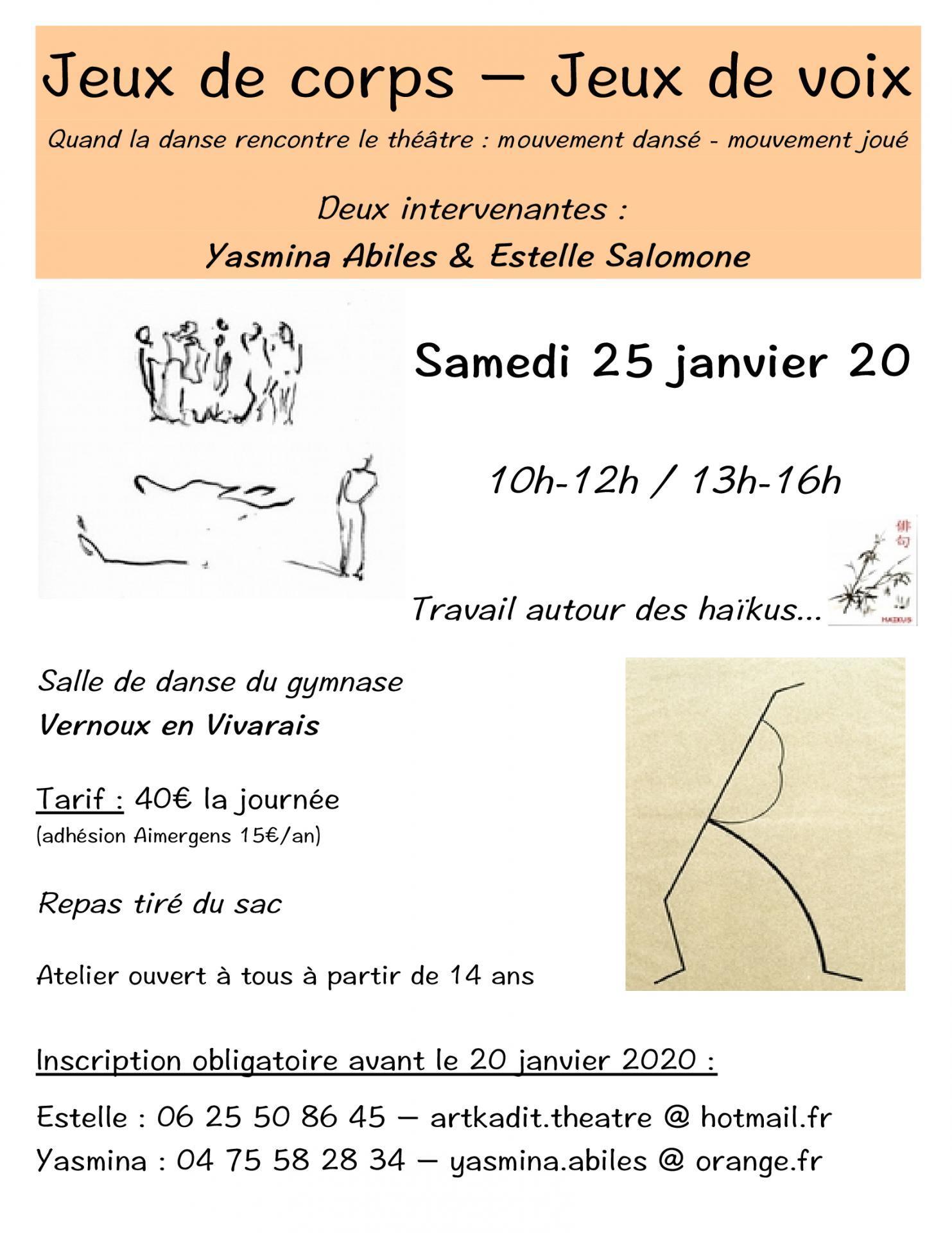 Affiche danse theatre 25 janvier