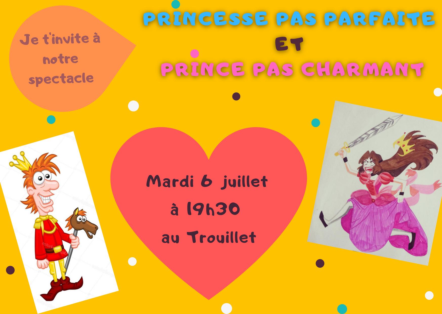 Princesse pas parfaite invitation